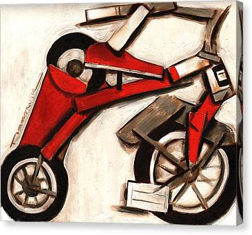 Abstract Tricycle Art Print Canvas Print by Tommervik