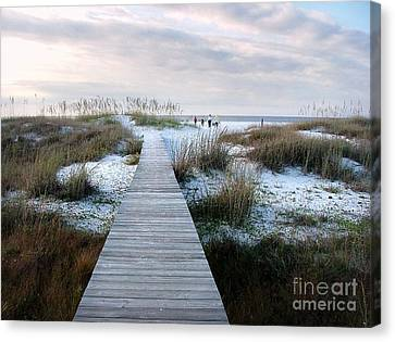 Across The Dunes Canvas Print by Julie Dant