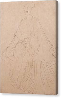Adele Bloch Bauer Canvas Print by Gustav Klimt