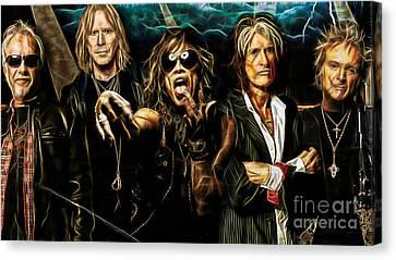 Aerosmith Collection Canvas Print by Marvin Blaine