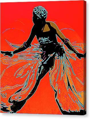 African Dancer Canvas Print by Irene Jonker