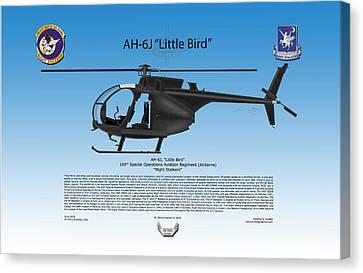 Ah-6j Little Bird Canvas Print by Arthur Eggers