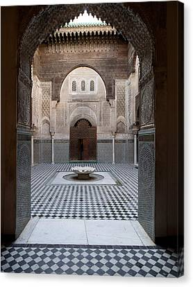 Al-attarine Madrasa Built By Abu Canvas Print by Panoramic Images