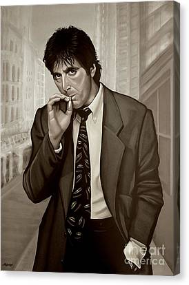 Al Pacino  Canvas Print by Meijering Manupix