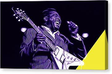 Albert King Collection Canvas Print by Marvin Blaine