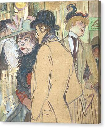 Alfred La Guigne Canvas Print by Henri de Toulouse-Lautrec