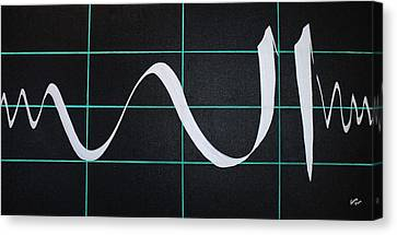 Divine Name In Cardiograph Canvas Print by Faraz Khan