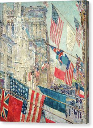 Allies Day - May 1917 Canvas Print by Childe Hassam