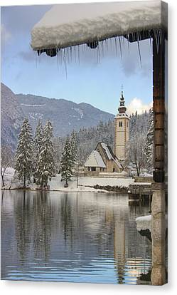 Alpine Winter Clarity Canvas Print by Ian Middleton