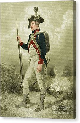 American Continental Soldier Canvas Print by Photo Researchers