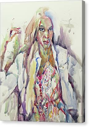 Amethyst Canvas Print by Becky Kim
