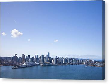 An Aerial View Of The City Of Vancouver Canvas Print by Taylor S. Kennedy