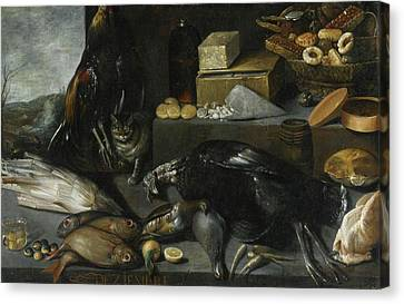 An Allegory Of The Month Of December Canvas Print by Francisco Barrera