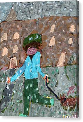 An Icy Path Canvas Print by Elinor Rakowski