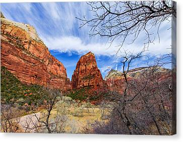 Angels Landing Canvas Print by Chad Dutson