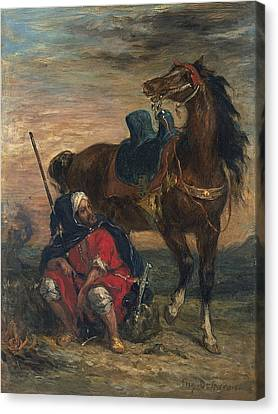 Arab Rider Canvas Print by Eugene Delacroix