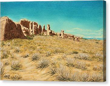 Arches 2 Canvas Print by Jan Amiss