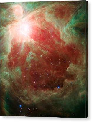 Around The Sword Of The Constellation Orion Canvas Print by American School