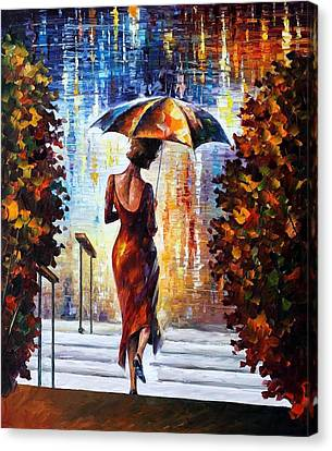 At The Steps Canvas Print by Leonid Afremov
