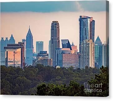 Atlanta Skyline Canvas Print by Doug Sturgess