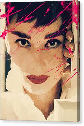 Audrey Hepburn Canvas Print by Afterdarkness
