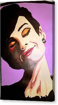 Audrey Hepburn  Canvas Print by Pauline Murphy