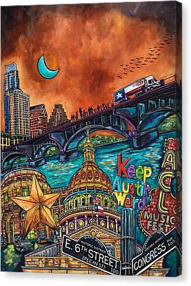 Austin Montage Canvas Print by Patti Schermerhorn