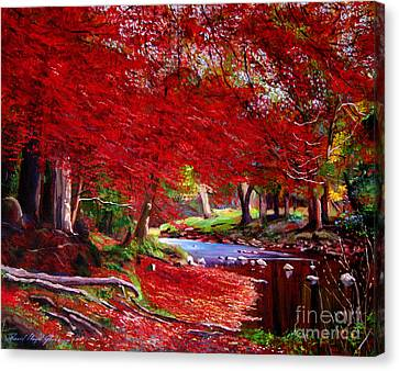 Autumn Fire Canvas Print by David Lloyd Glover