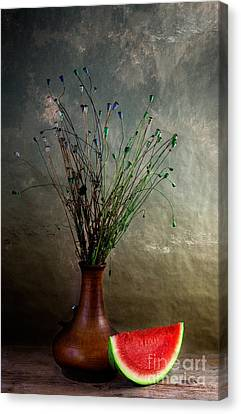 Autumn Still Life Canvas Print by Nailia Schwarz