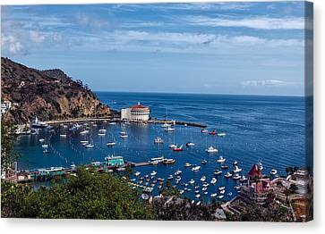 Avalon Harbor - Catalina Island Canvas Print by Mountain Dreams