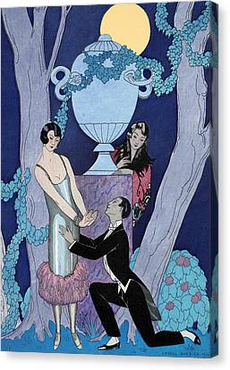 Avarice Canvas Print by Georges Barbier