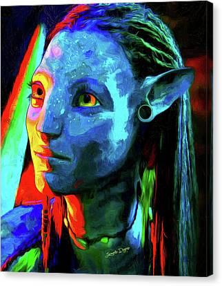 Avatar - Van Gogh Style Over Oil Canvas Canvas Print by Leonardo Digenio