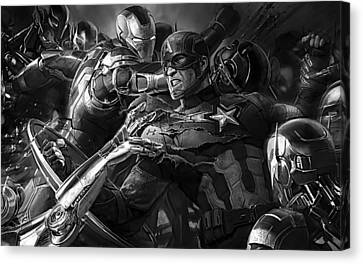 Avengers Collection Canvas Print by Marvin Blaine
