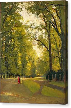 Backs Of The Colleges Cambridge Canvas Print by Cyrus Johnson
