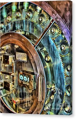 Bank Vault Door Canvas Print by Clare VanderVeen