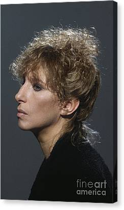 Barbra Streisand Canvas Print by Terry O'Neill