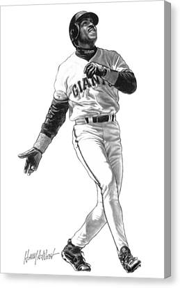 Barry Bonds Canvas Print by Harry West