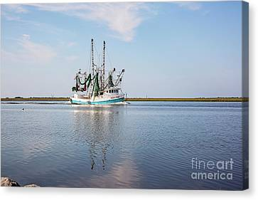 Bayou Shrimper Canvas Print by Scott Pellegrin