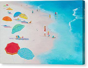 Beach Painting - One Summer Canvas Print by Jan Matson