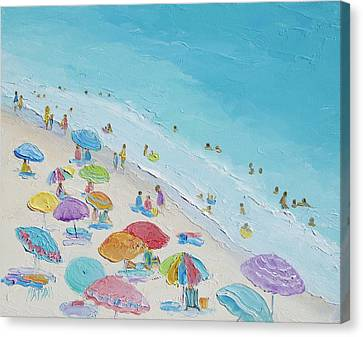 Beach Painting - Summer Love Canvas Print by Jan Matson