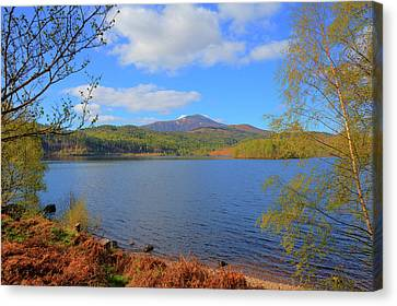 Beautiful Scottish Loch Garry Scotland Uk Lake West Of Invergarry On The A87 South Of Fort Augustus  Canvas Print by Michael Charles