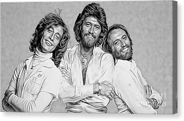 Bee Gees Collection Canvas Print by Marvin Blaine