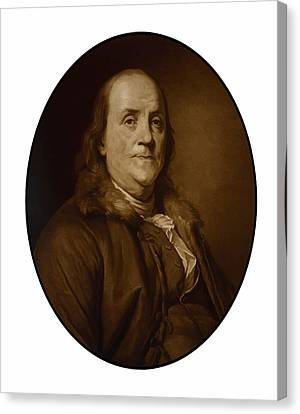 Benjamin Franklin Canvas Print by War Is Hell Store