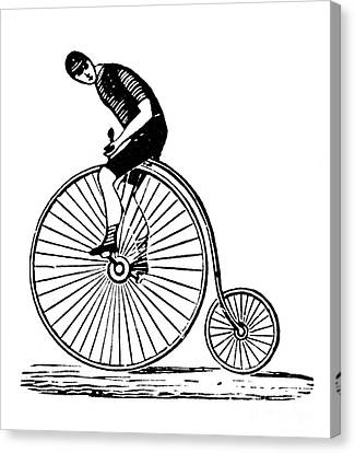 Bicycling Canvas Print by Granger