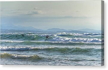 Big Surf Invitational Iv Canvas Print by Thierry Bouriat