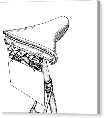 Bike Saddle Canvas Print by Karl Addison