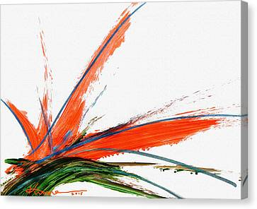 Bird Of Paradise Canvas Print by Kume Bryant