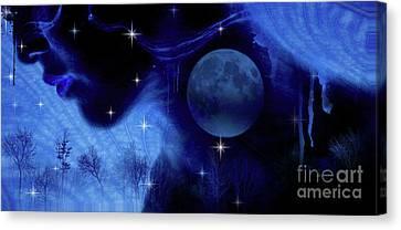 Blue Moon Canvas Print by Prar Kulasekara