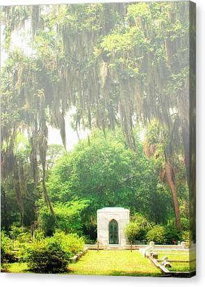 Bonaventure Cemetery Savannah Ga Canvas Print by William Dey