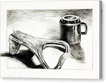 Bottle Opener And Cup  By Ivailo Nikolov Canvas Print by Boyan Dimitrov